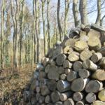Ambachtelijk gestapeld hout